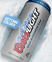 Coors Light cold can