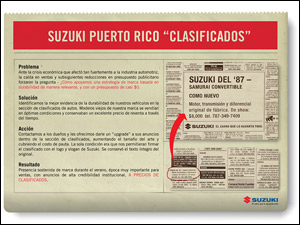 Suzuki de Puerto Rico - Clasificados