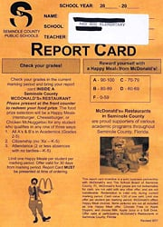 McDonald's Report Card